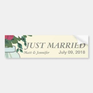 Mason Jar Wedding Invitation – Pastel Blond/Cream Bumper Sticker