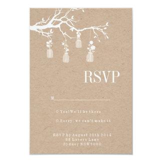 Mason Jar Wedding RSVP Card
