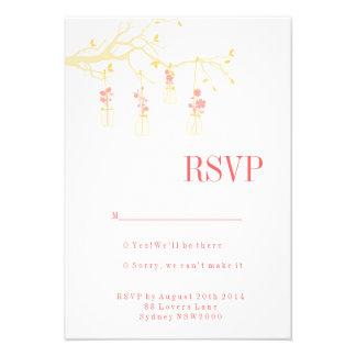 Mason Jar Wedding RSVP Personalized Invitation