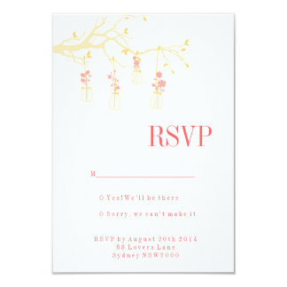 Mason Jar Wedding RSVP Personalized Invitation