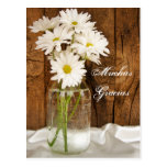 Mason Jar White Daisies Spanish Thank You Postcard