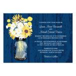 Mason Jar Wild Daisies Sunflowers & Billy Balls Invites
