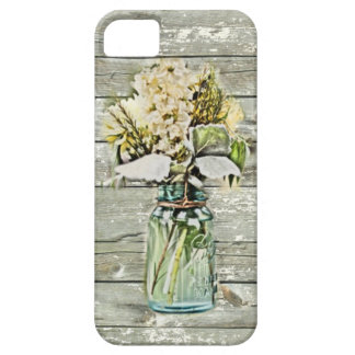Mason jar wildflower barn wood french country iPhone 5 covers