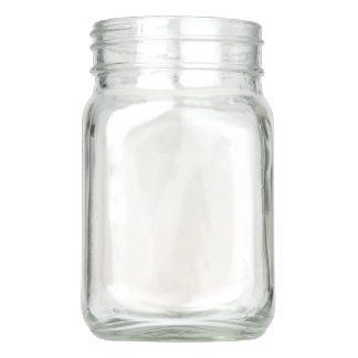 Mason Jar with handle, 12 oz