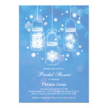 Mason Jar with Snowflakes Bridal Shower Invitation 13 Cm X 18 Cm Invitation Card