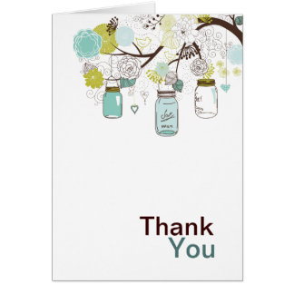 Mason Jars and Flowers Cards