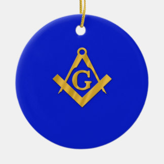 Mason - Masonic Blue Christmas Ornament