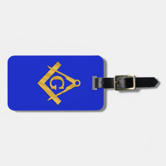 Mason - Masonic Blue Luggage Tag