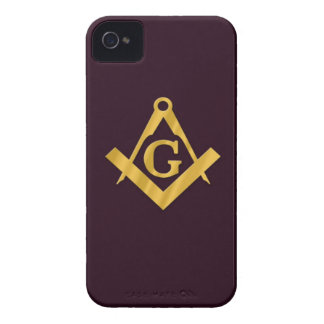 Mason Masonic Product on Brown Case-Mate iPhone 4 Case