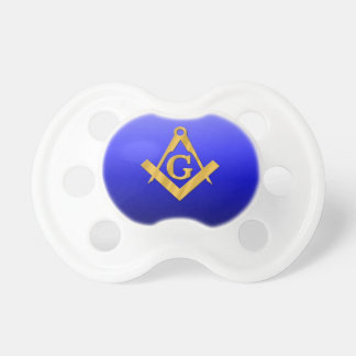 Mason Masonic with Gradient Blue Pacifiers
