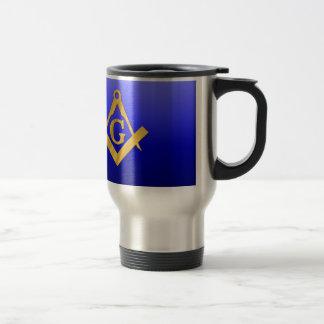 Mason Masonic with Gradient Blue Stainless Steel Travel Mug