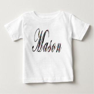 Mason, Name, Logo, Baby Boys White T-shirt