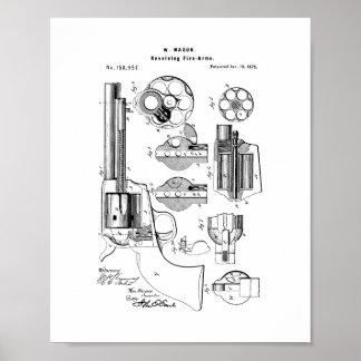 Mason Revolving Fire-arm Patent Poster