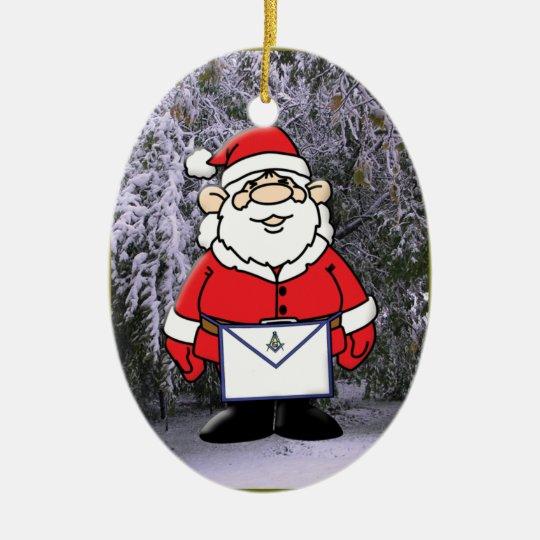 Mason Santa in the snow Christmas Ornament