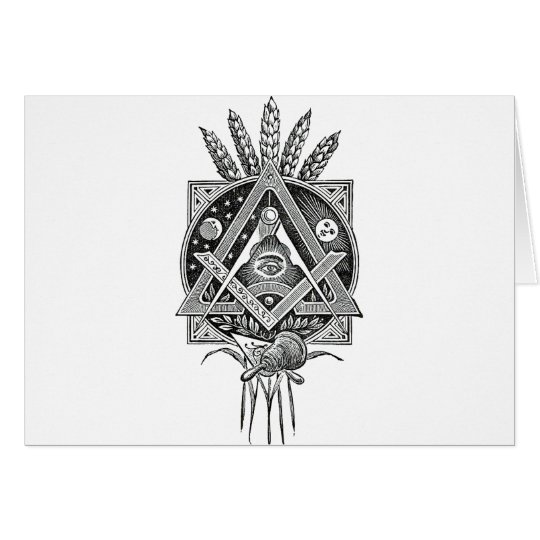 Masonic accessories card