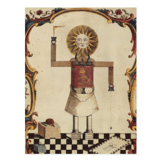 Masonic art postcard