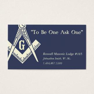 Custom Freemasonry Business Cards