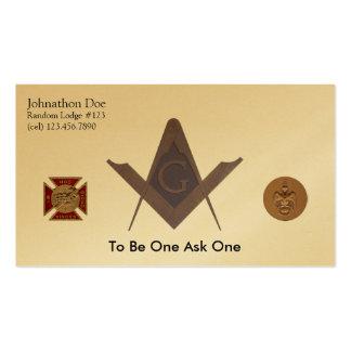 Masonic Business Card