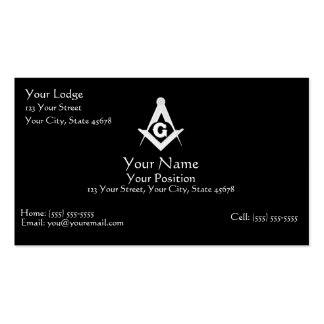 Masonic Business Card Pack Of Standard Business Cards