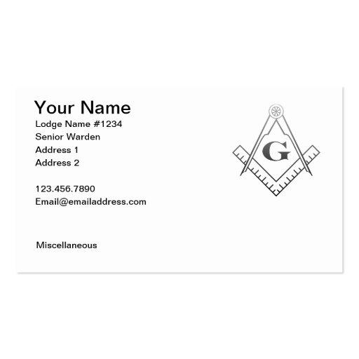 Masonic Business Card 1