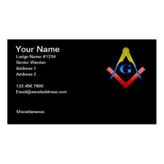 Masonic Business Card 2