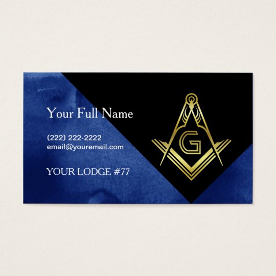 Masonic Business Card Designs | Blue Black &