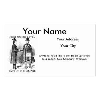 Masonic Business Cards