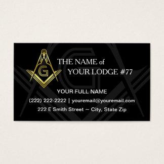 Custom Freemason Business Cards