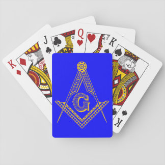 masonic cards blue and gold