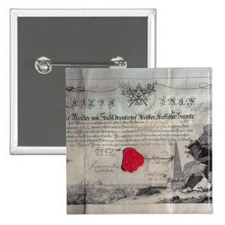 Masonic certificate, 1785 pinback buttons