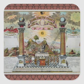 Masonic Chart 2 Square Sticker