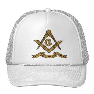 Masonic emblem cap trucker hats