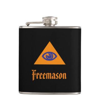 Masonic eye - Freemason Hip Flask