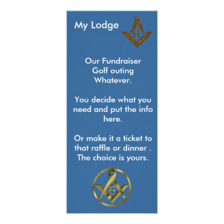 Masonic Fundraiser Customised Rack Card