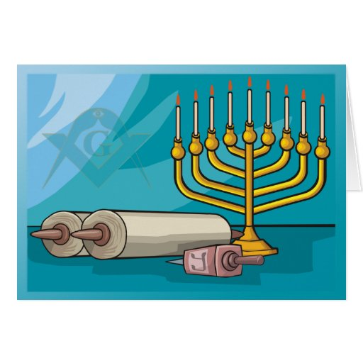Masonic Hanukkah Greeting Card