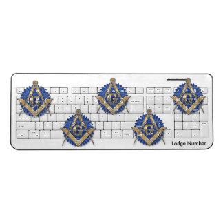 Masonic Lodge Wireless Keyboard