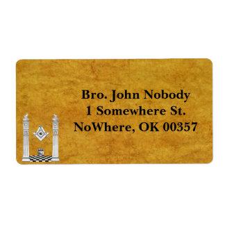 Masonic Mailing Labels