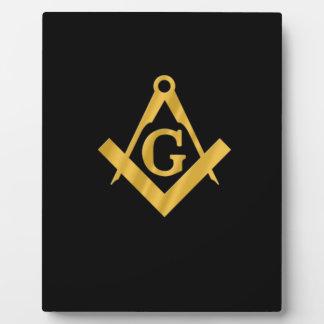 "Masonic ""Mason for Life"" Display Plaque"