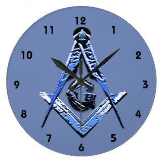 Masonic Minds (Blue) Large Clock