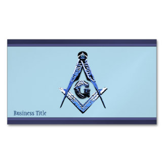 Masonic Minds (Blue) Magnetic Business Cards