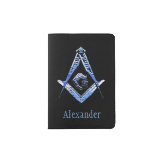 Masonic Minds (Blue) Passport Holder