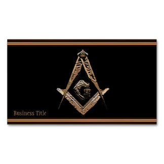 Masonic Minds (Golden) Magnetic Business Cards