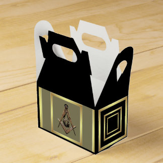Masonic Minds (Golden) Wedding Favour Boxes