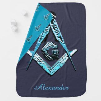 Masonic Minds (Light Blue) Buggy Blanket