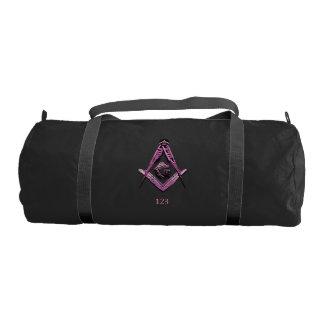 Masonic Minds (Pink) Gym Duffel Bag
