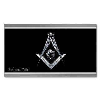 Masonic Minds (Silvery) Magnetic Business Cards
