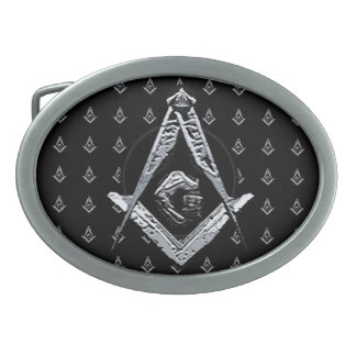 Masonic Minds (Silvery) Oval Belt Buckles