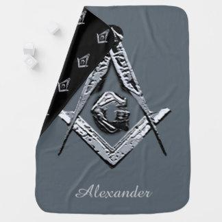 Masonic Minds (Silvery) Pramblankets