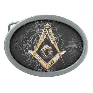 Masonic Minds (Swish) Oval Belt Buckle