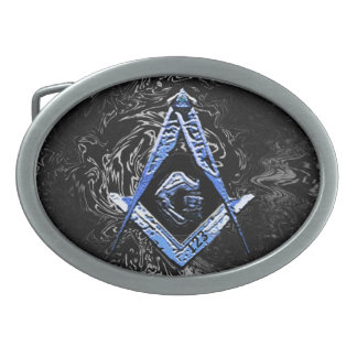 Masonic Minds (SwishBlue) Oval Belt Buckles